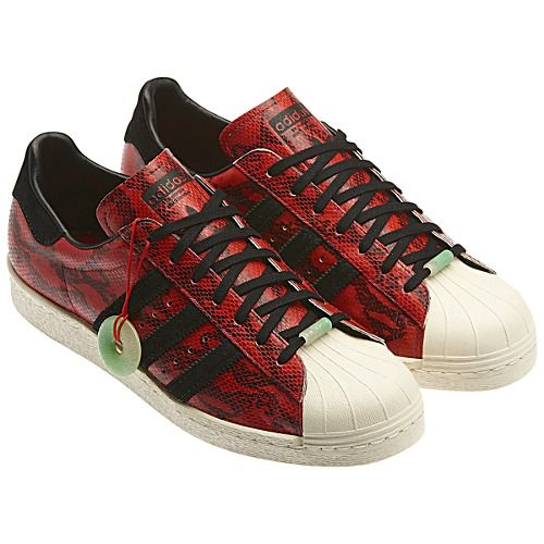 huge selection of ec6fe 8c3a6 image: adidas Superstar 80s Chinese New Year Shoes Q35133 ...
