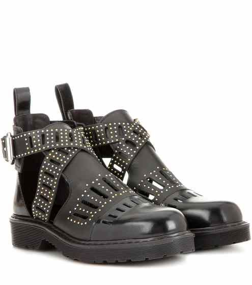 outlet lowest price top quality Alexander McQueen Leather Cutout Booties looking for sale online NGSYrVza5P