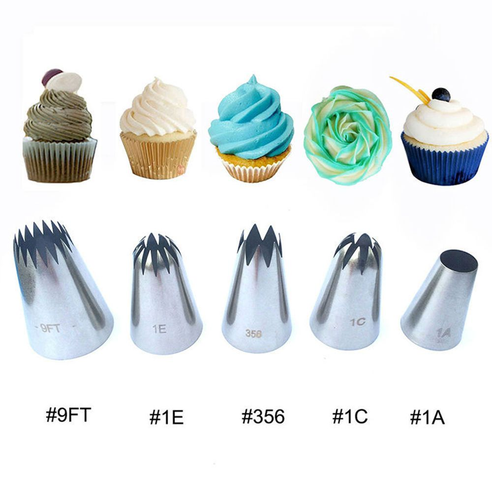 24 Pcs Durable Large Icing Piping Nozzles Pastry Stainless Steel Tips Set GA