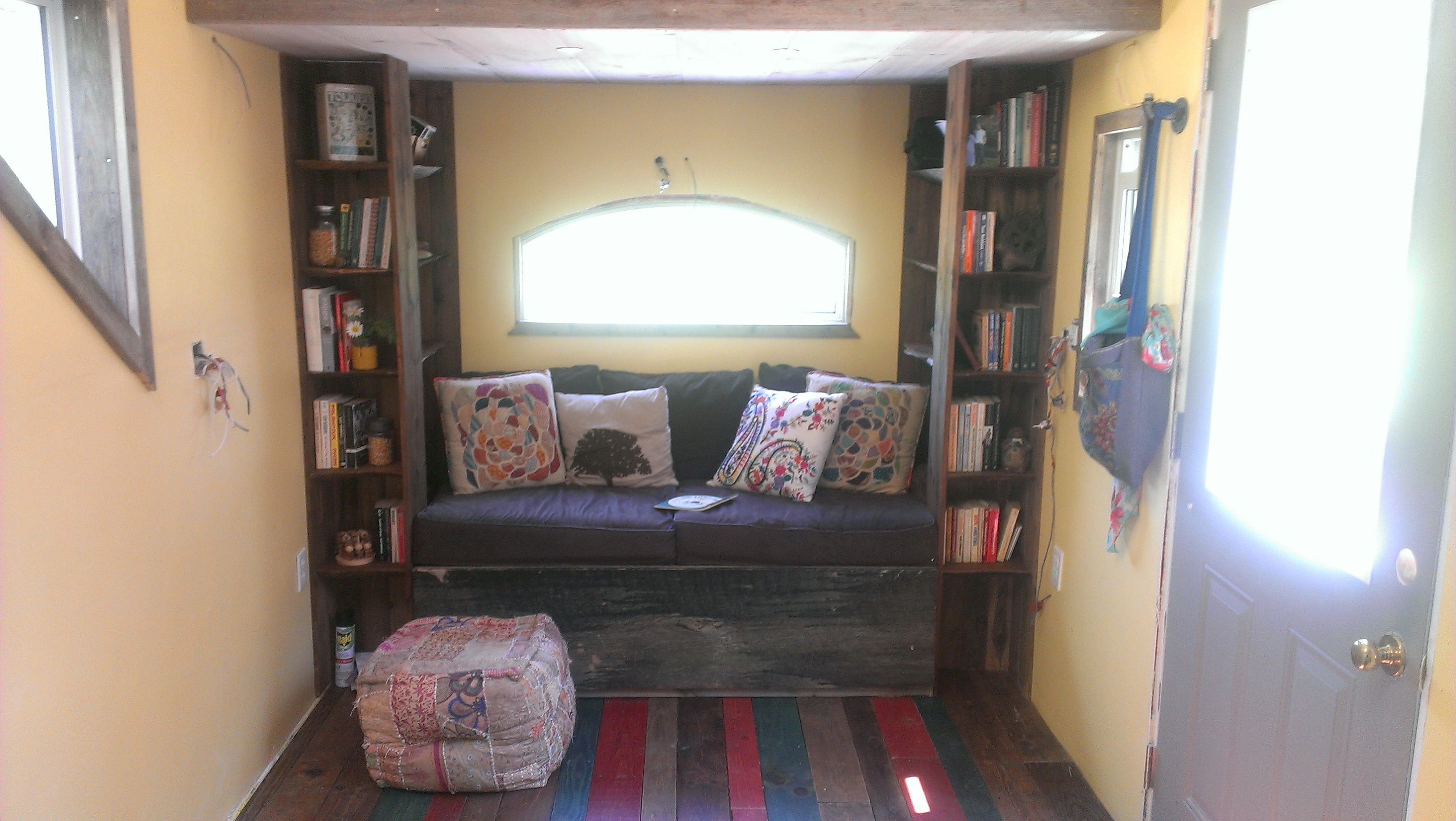 Book nook in our tiny house in guelph house tiny house