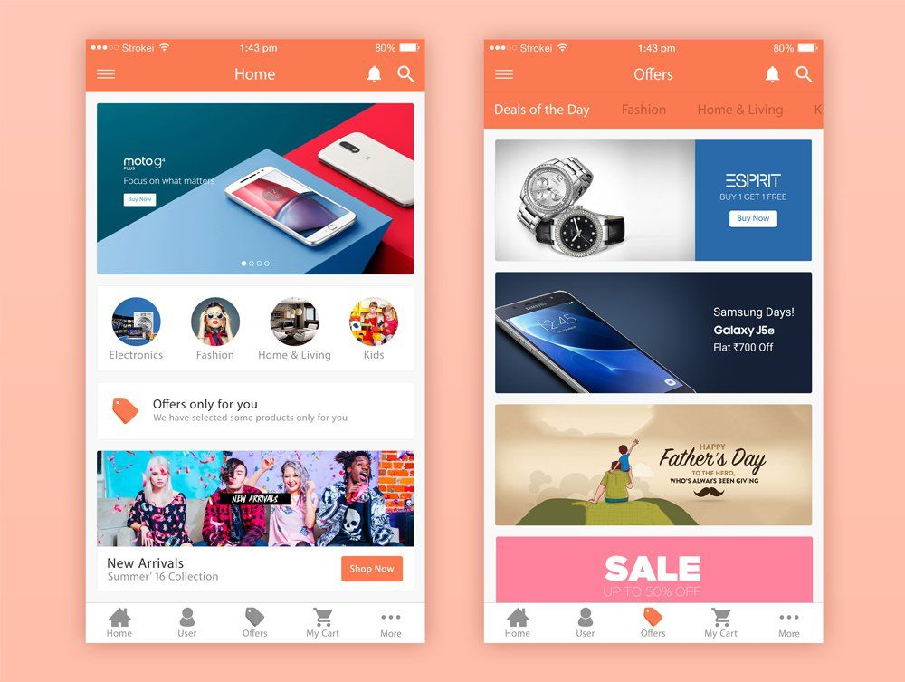 E commerce app ui psd pinterest app a roundup of fresh free mobile app ui psd designsthis collection help you to enhance your design skills by closely examining these free psd ui designs ccuart Gallery