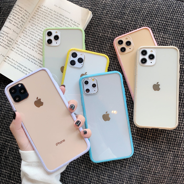 Candy Color Wave Point Frame Phone Case For Iphone 11 11pro Max X Xr Xs Max 8 7 6 6s Plus Iphone Iphone Phone Cases Girly Phone Cases