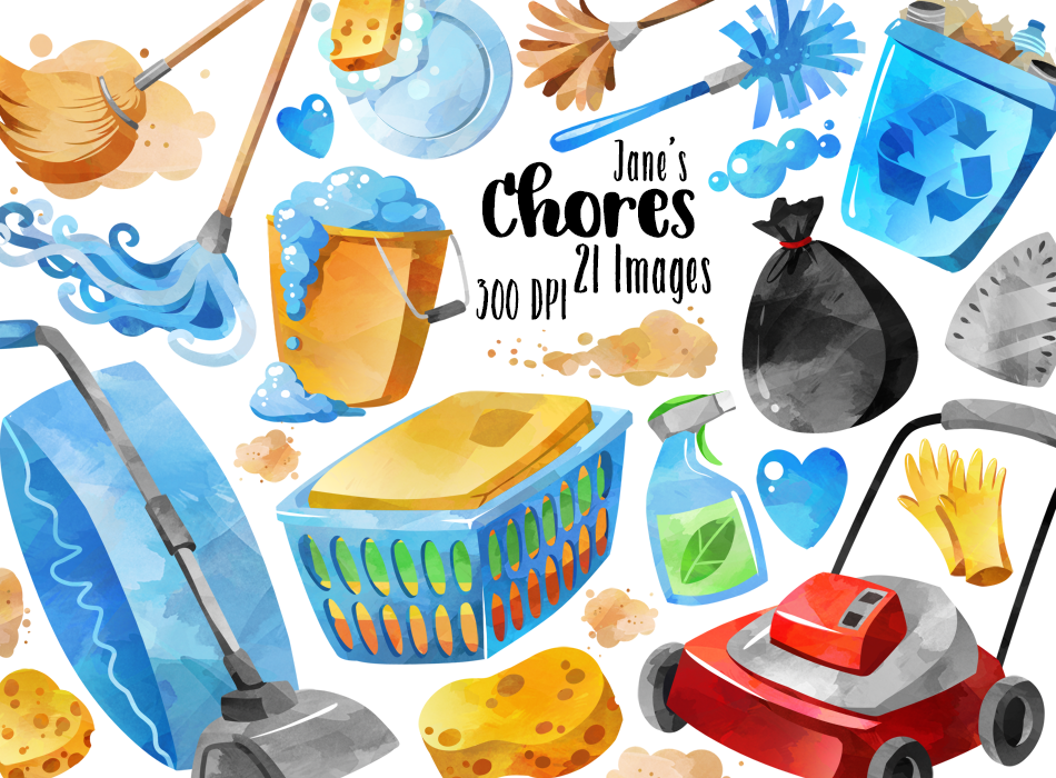 Chores Clipart Set By Digitalartsi Planner