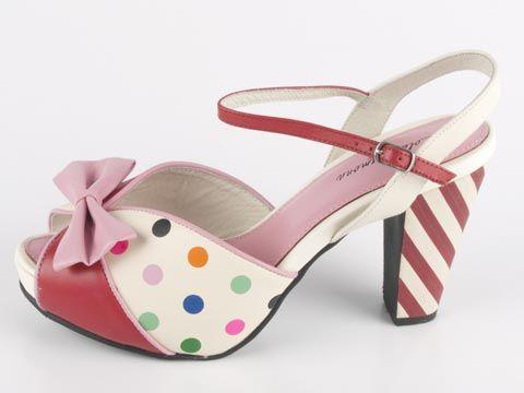 2ae077987b1b Lola Ramona  Angie shoes Polka Dot Heels