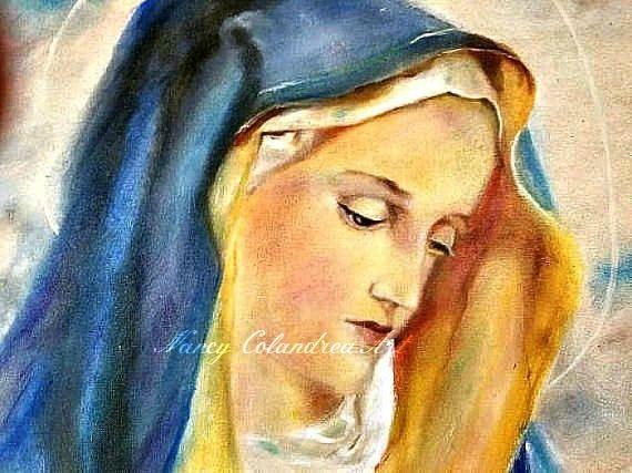 Oil Painting Portrait-Catholic Art-Religious Painting-Virgin Mary ...