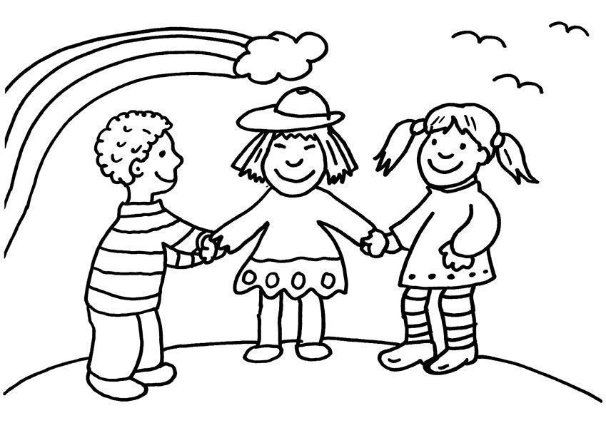 Dibujos De Ninos Para Colorear E Imprimir Gratis Coloring Page