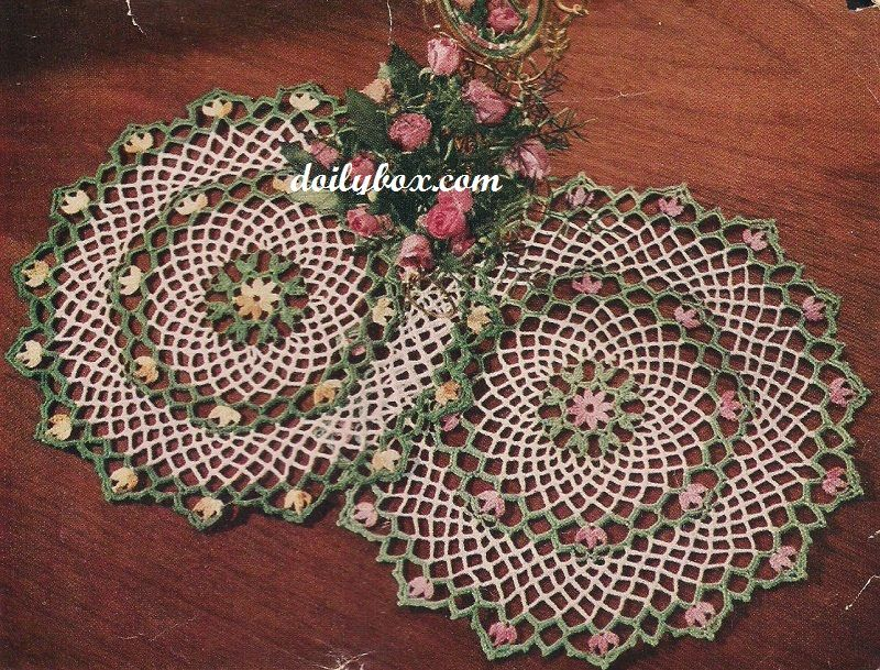 Free Crochet - The Blossom Doily Pattern | Crochet Doilies ...