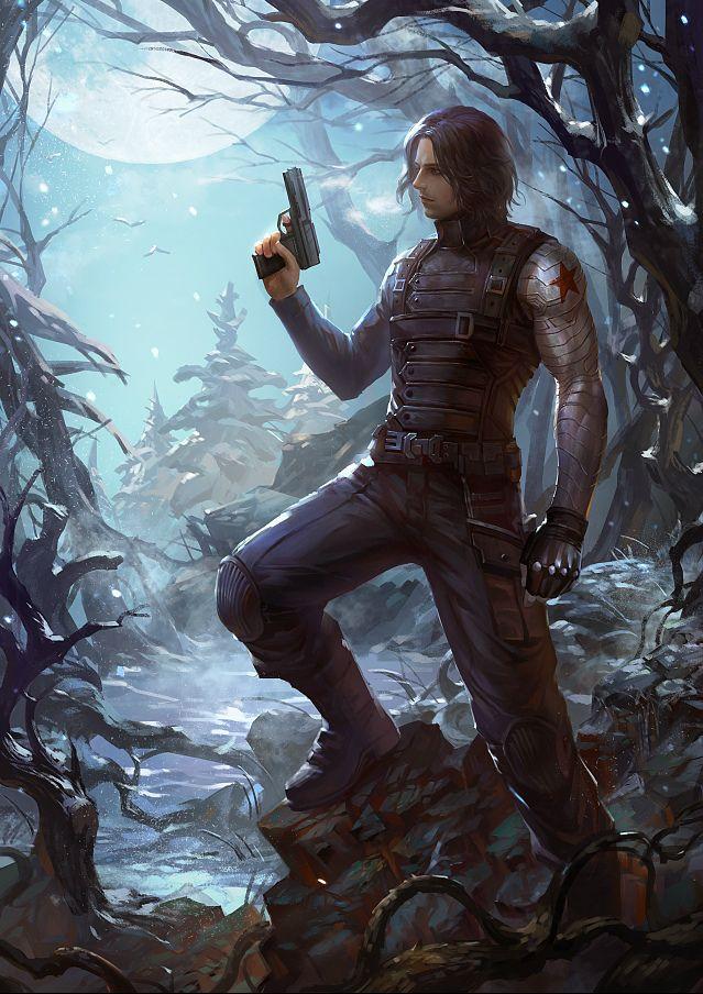 Winter Soldier fanart by cdash >> HOLY CRAP I LOVE | Fan art