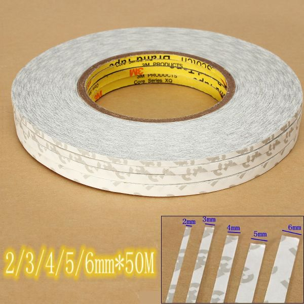 3mm wide x 25m long double sided strong tape adhesive screen digitizer glass fix