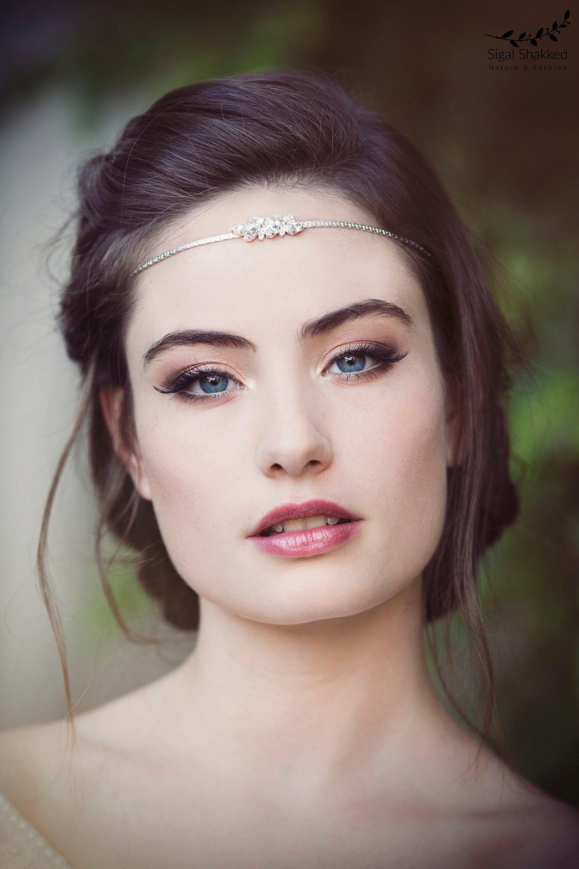 Braut Kopf Kette Boho Braut Stirnband Kopfschmuck   Etsy