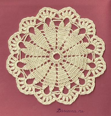 Aquí tengo unos nuevos diagramas de los círculos de crochet ...