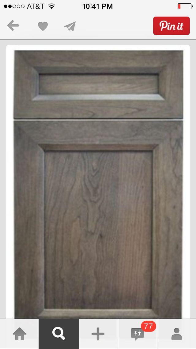 Gray brown stain for cabinets dream home pinterest for Grey and brown kitchen