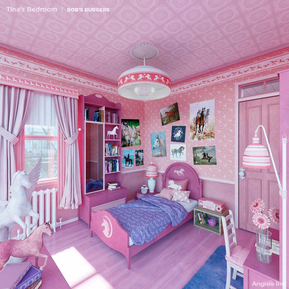 Here S What 6 Animated Tv Bedrooms Would Look Like In Real Life Kids Bedroom Cartoon Bedroom Kid Room Decor