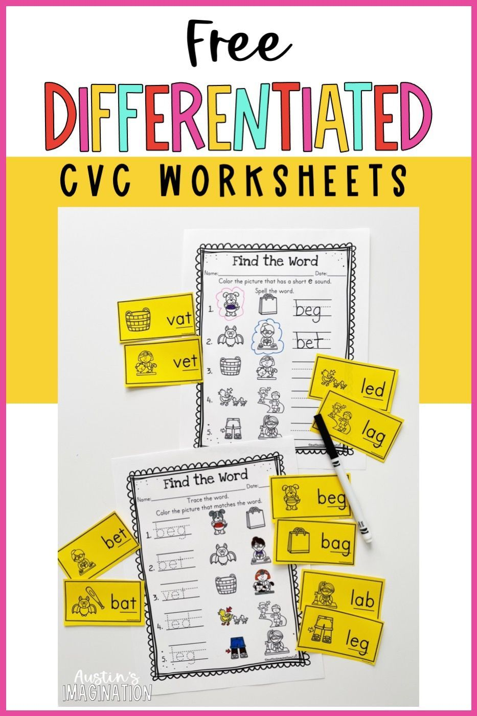 Free Differentiated Cvc Worksheets And Teaching Mistakes To Avoid When Teaching Cvc Words In 2021 Cvc Words Writing Cvc Words Cvc Word Families [ 1400 x 933 Pixel ]