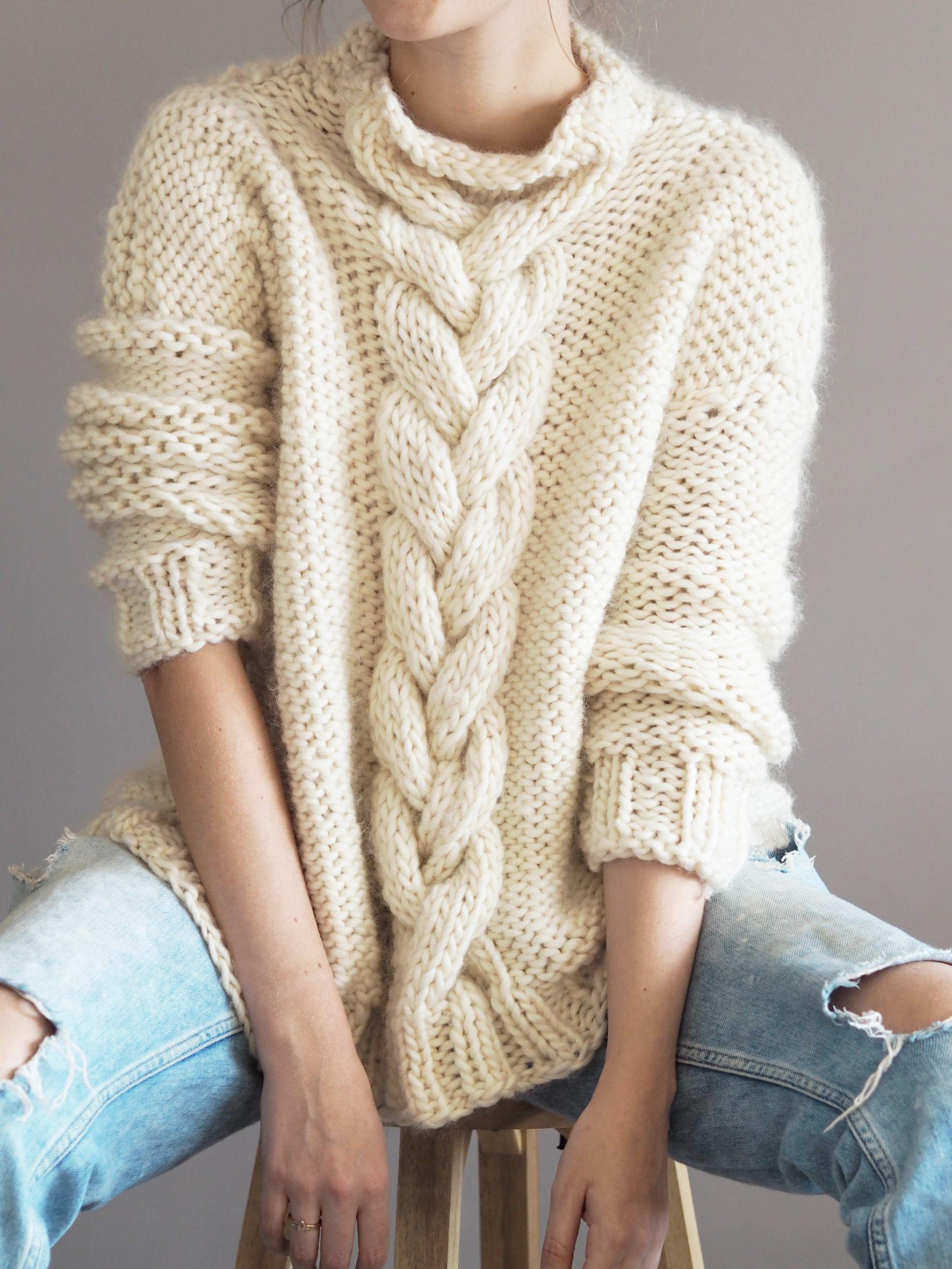Knit Kit - Cable Knit Jumper   Knitting   Knitting, Knitting ...