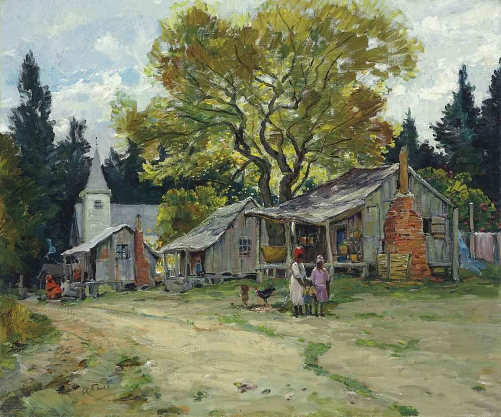 Anthony Thieme (18881954) Florida Shanties, Palatka