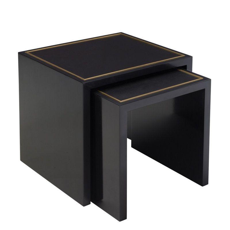 limited production design ralph lauren black nesting table. Black Bedroom Furniture Sets. Home Design Ideas