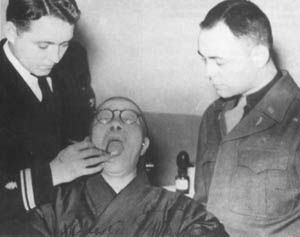 Dr George Foster Dentist Left Examines General Tojo In