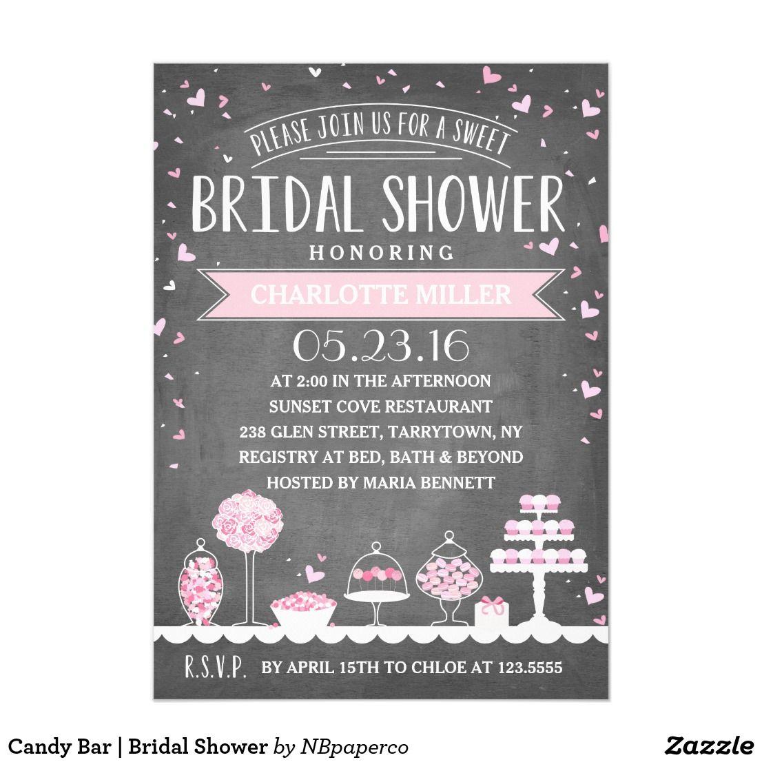 Candy Bar   Bridal Shower   Bachelorette Party Wedding Invitations ...