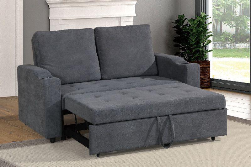 Brilliant Poundex F6578 Daryl Iii Charcoal Linen Like Fabric Love Seat Evergreenethics Interior Chair Design Evergreenethicsorg