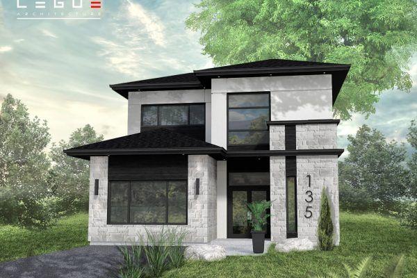 Plan de Maison Moderne Ë_135 Leguë Architecture Modern Homes 2