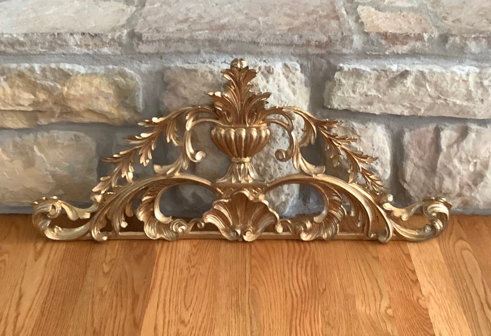 Vintage Lrg 30 Gold Italian Pediment Made In Italy Wall Etsy