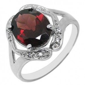 3 Carat Garnet solitaire antique Engagement Ring for Women