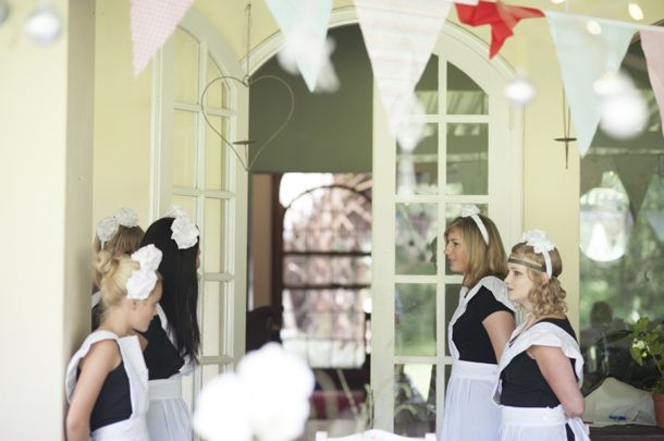 real bridal shower downton abbey