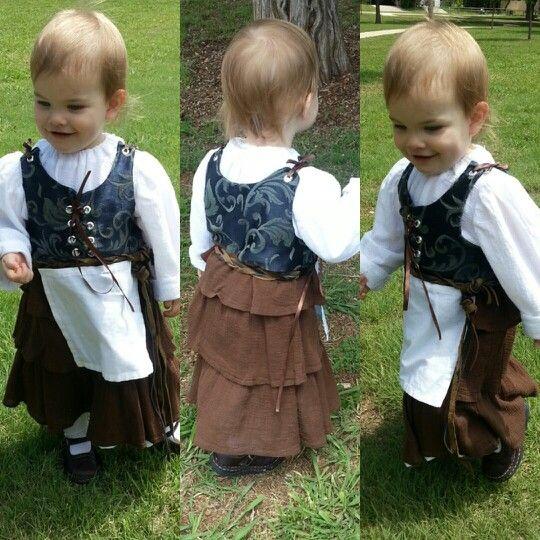 f7b46d1534d2 Renaissance costume dress for little girl Childs Renaissance Medieval Fairy  Tale Dress Tudor Costume Gown