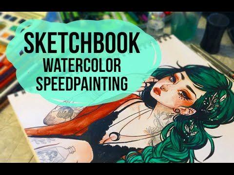Sketchbook Watercolor Painting