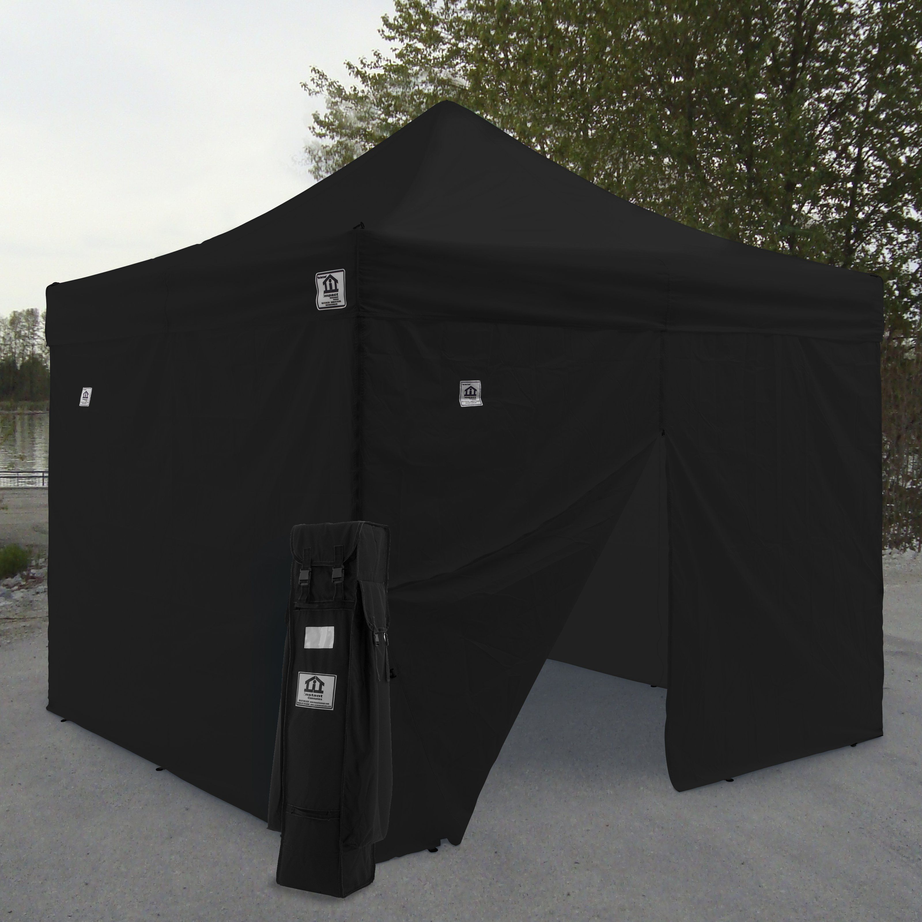 Impact Canopy AOL 10x10 ft. Ez Pop Up Canopy Tent Instant Canopy Aluminum with Wheeled & Impact Canopy AOL 10x10 ft. Ez Pop Up Canopy Tent Instant Canopy ...