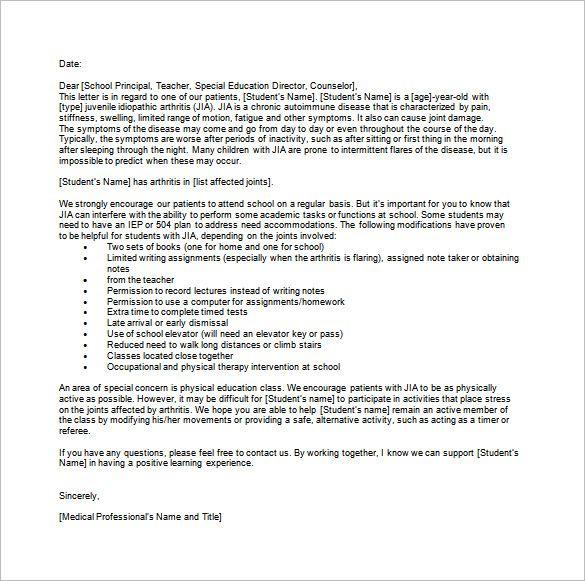 doctors note for school template