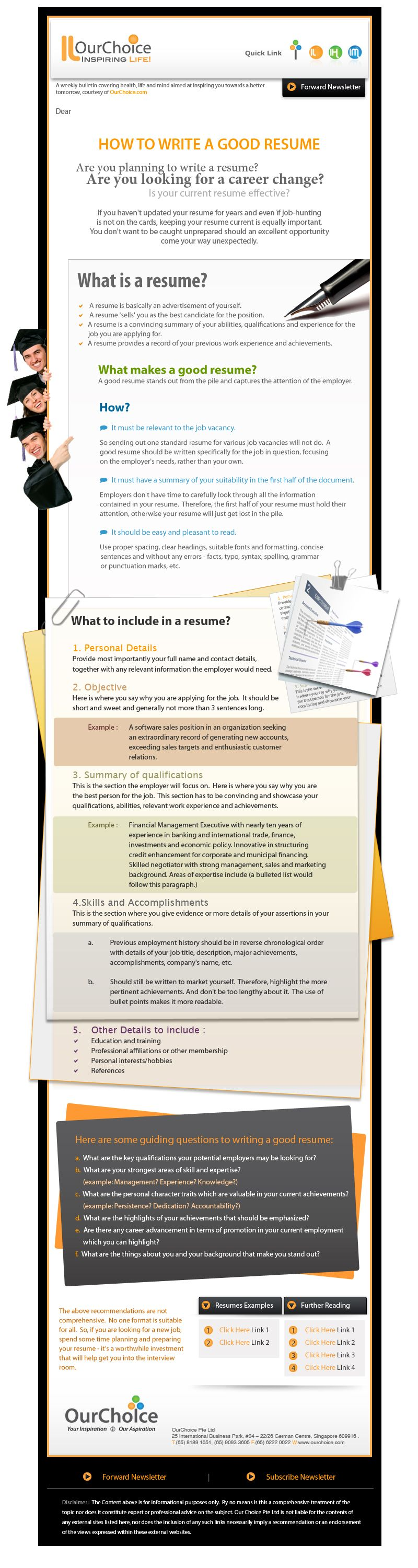 Some Resume Writing Good Tips Infographic Career