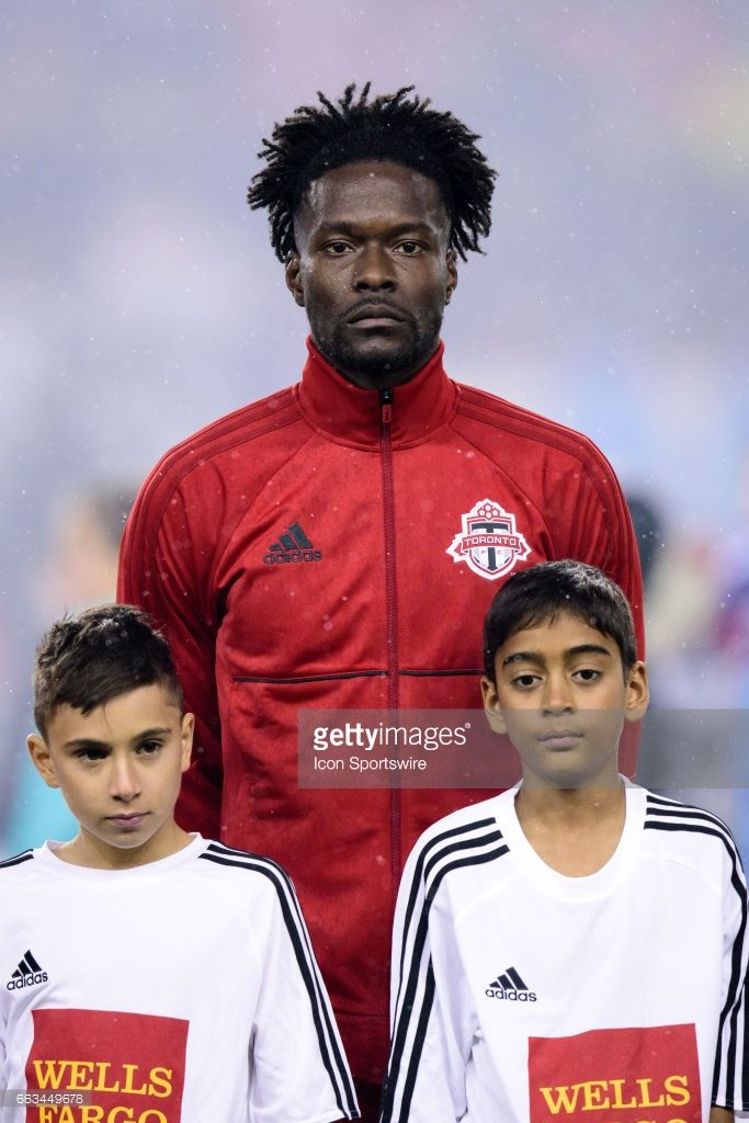 ... FC during the United States national anthem before the MLS Soccer  regular season game between Toronto FC and Sporting Kansas City on March 31 6e1690d28d105