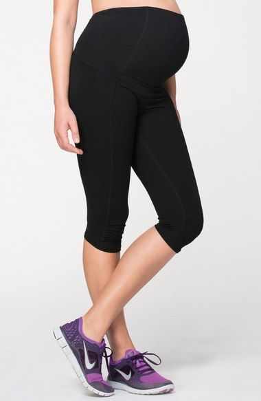 f5784b9e05729 Ingrid & Isabel® Knee Length Maternity Workout Pants available at #Nordstrom