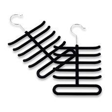 Real simple slimline tie hangers set of 2 black organize real simple slimline tie hangers set of 2 black ccuart Images