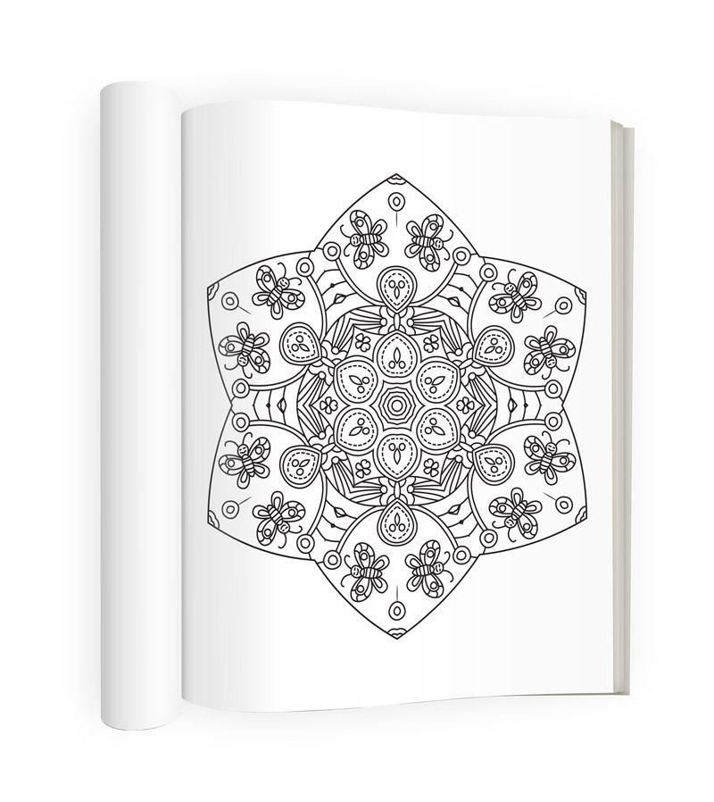 Mandala Coloring Page From Talia Knights Calm Book