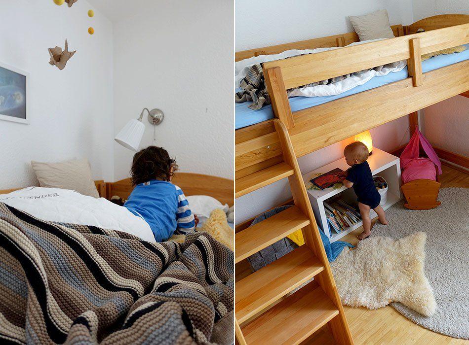 Bio Kinderbett Gesunder Schlaf Hochbett Kleinkind Halbhohes