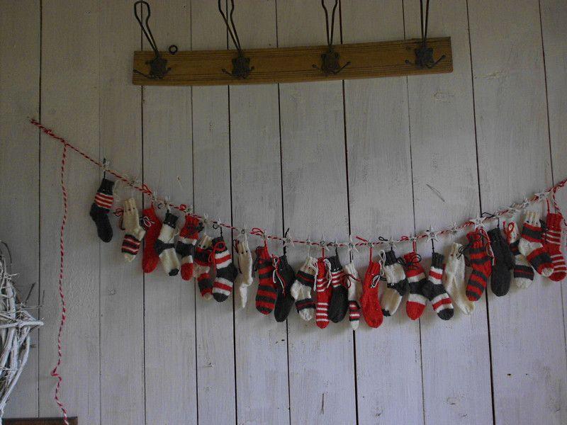 Adventskalender-Söckchen von *Haus No.7* auf DaWanda.com