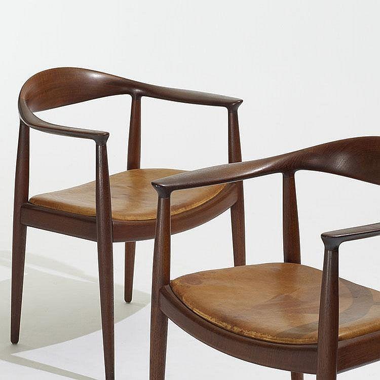 Hans Wegner The Chairs Pair Johannes Hansen Denmark 1949 Teak