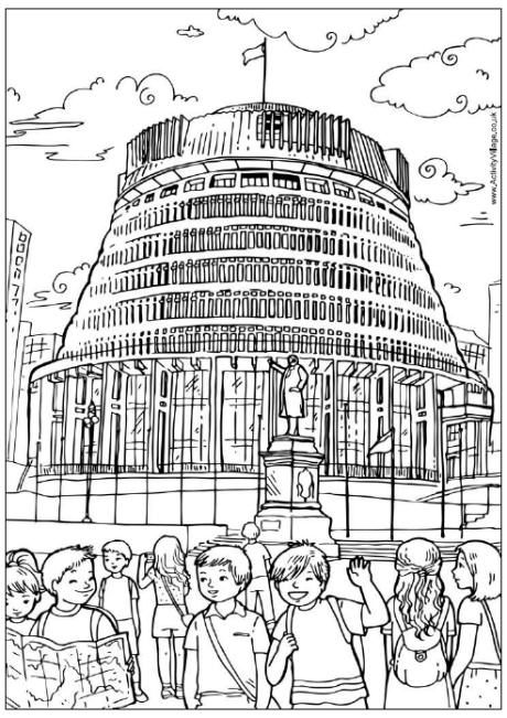Beehive Wellington Colouring Page With Images Coloring Pages