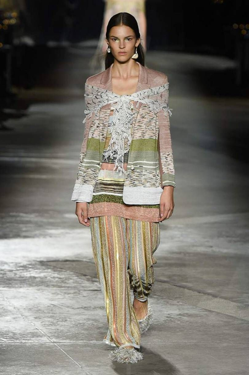 Fashion week Springsummer Missoni ladies collection for woman
