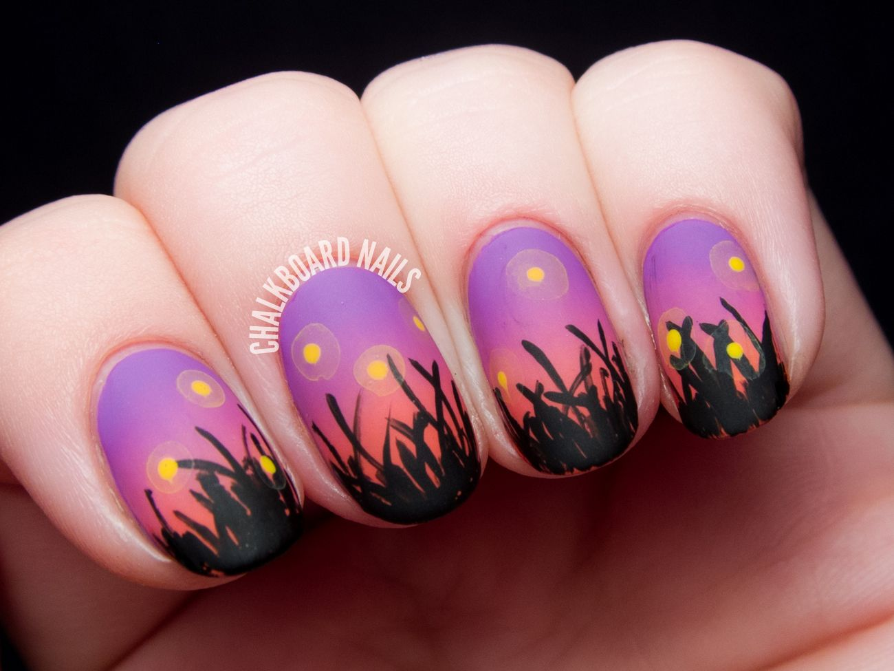 Chalkboard nails - Fireflies In The Field At Sunset Fireflies, Fields And Nail Nail