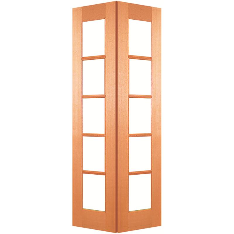 Woodcraft Doors 2040 x 820 x 35mm 5 Lite Internal Bi-Fold Door Set on