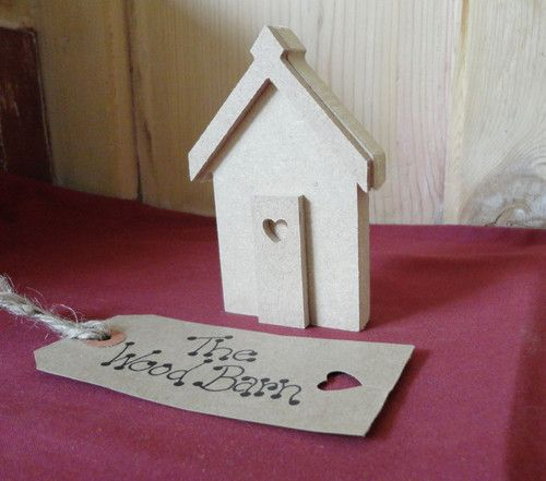 Free-Standing 3D SINGLE BEACH HUT. Wooden craft shapes, Freestanding MDF Shapes. | eBay