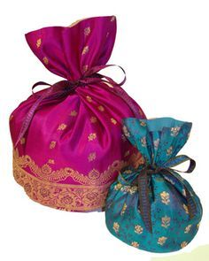 Recycled Sari Gift Pouches To Favors Wedding Favor Pouch