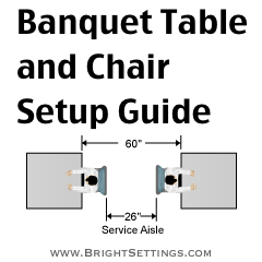 Banquet Table And Chair Set Up Guide   Expert Event