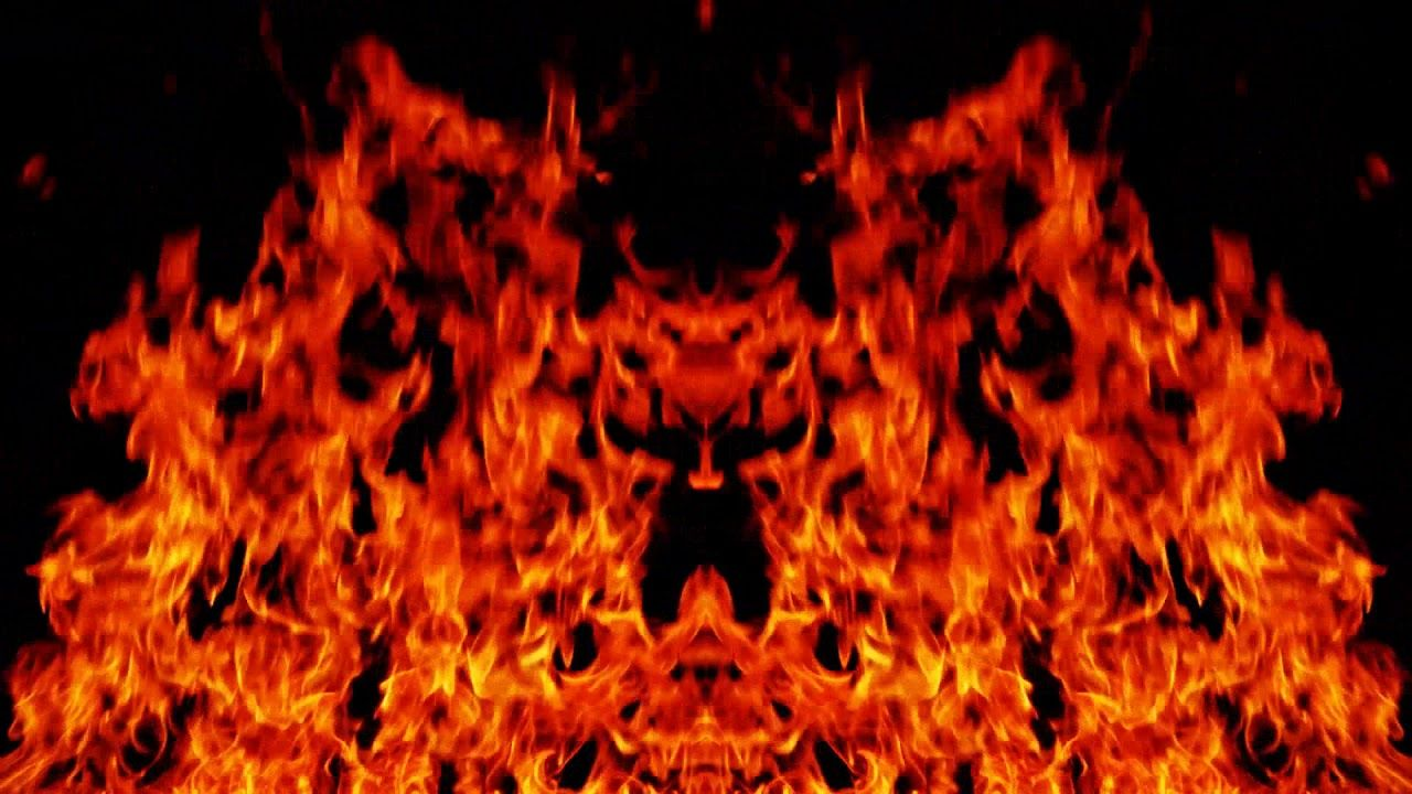 Ym4593 Red Flame Special Effect Photography Video Background