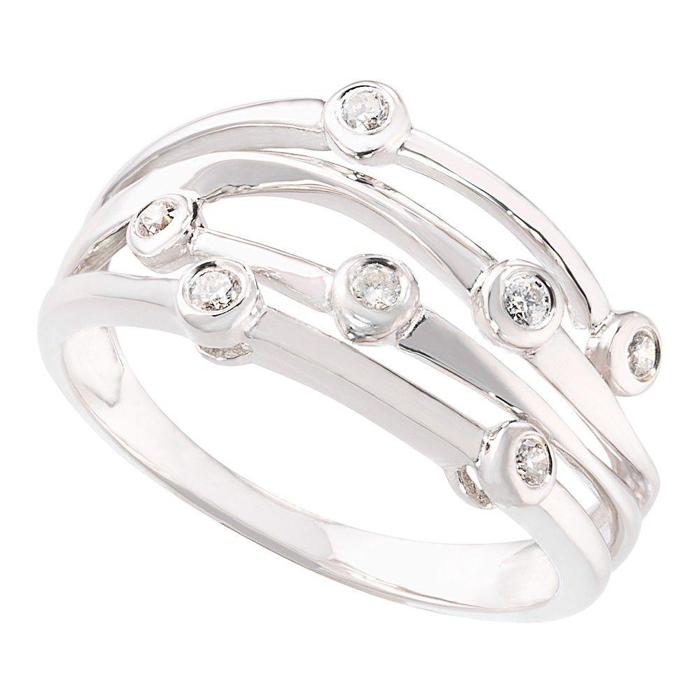 9ct White Gold Diamond Cocktail Ring