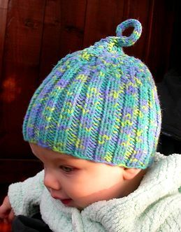 Two Needle Baby Hat In Bunny Hop Free Knitting Pattern For Baby Hat Crystal Palace Yarns Baby Hat Knitting Pattern Baby Hat Patterns Hat Knitting Patterns